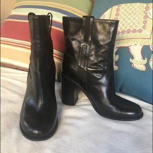 Kate Spade black leather ankle boots